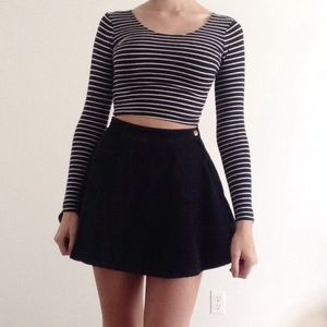 American Apparel black corduroy circle skirt NWOT